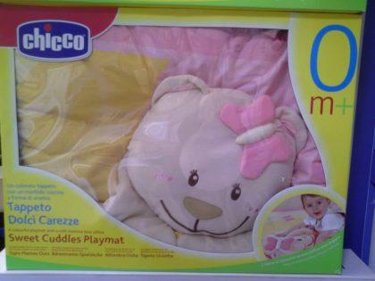 اسباب بازی چیکو اصل و تشک بالشت دار عروسکی خرس صورتی |سیسمونی نوزاد چیکو|سیسمونی نوزاد بارنی|chicco