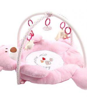 تشک بازی فلایتیو خرس صورتی با اویز عروسکی و دستگاه موزیکال پیانویی  سیسمونی نوزاد مشهد سیسمونی نوزاد سیسمونی بارنی 