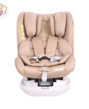 صندلی ماشین ولتک چرخشی 360 درجه رنگ کرم|صندلی ماشین VOLLTEK|سیسمونی نوزاد|سیسمونی |سیسمونی بارنی|