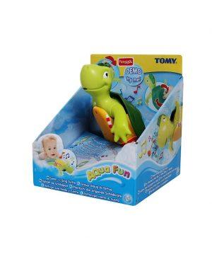 اسباب بازی لاک پشت شناگر موزیکال تامی  اسباب بازی لاک پشت TOMY سیسمونی نوزاد در مشهد سیسمونی بارنی 