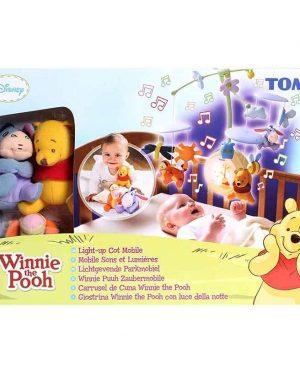اویز تخت موزیکال چرخشی تامی دیزنی |اویز تخت موزیکال TOMY|سیسمونی نوزاد پوهپسیسمونی نوزاد در مشهدپسیسمونی بارنی|