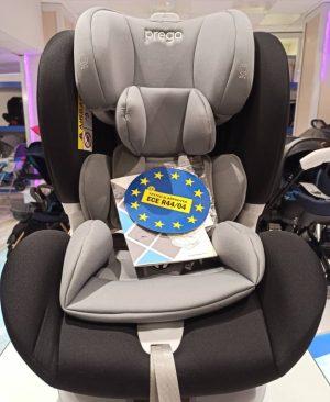 صندلی ماشین کودک پرگو مشکی-طوسی صندلی دوطرفه 25-0 کیلوگرم ایزوفیکس دار prego carseat / isofix 0-25 kg