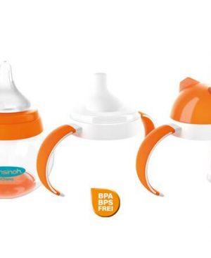 شیشه شیر و لیوان نی دار و لیوان دسته دار نوزادی 3 کاره LANSINOH momma|سیسمونی بارنی|سیسمونی نوزاد در مشهد|